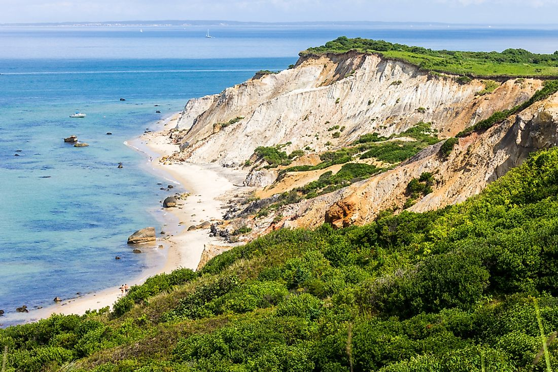 Gay Head Cliffs near Aquinnah on Martha's Vineyard.