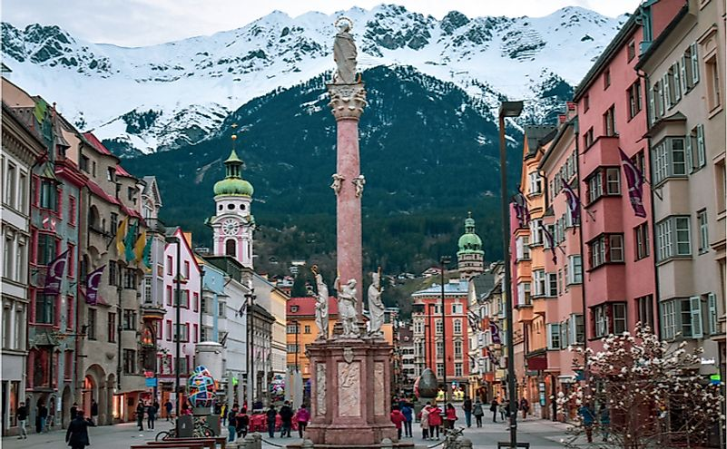 The majestic city of Innsbruck, the heart of Tirol-Austria
