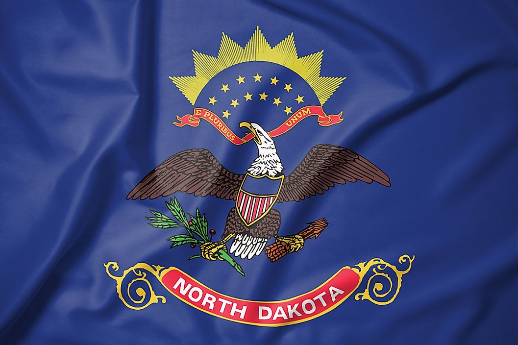 The state flag of North Dakota.