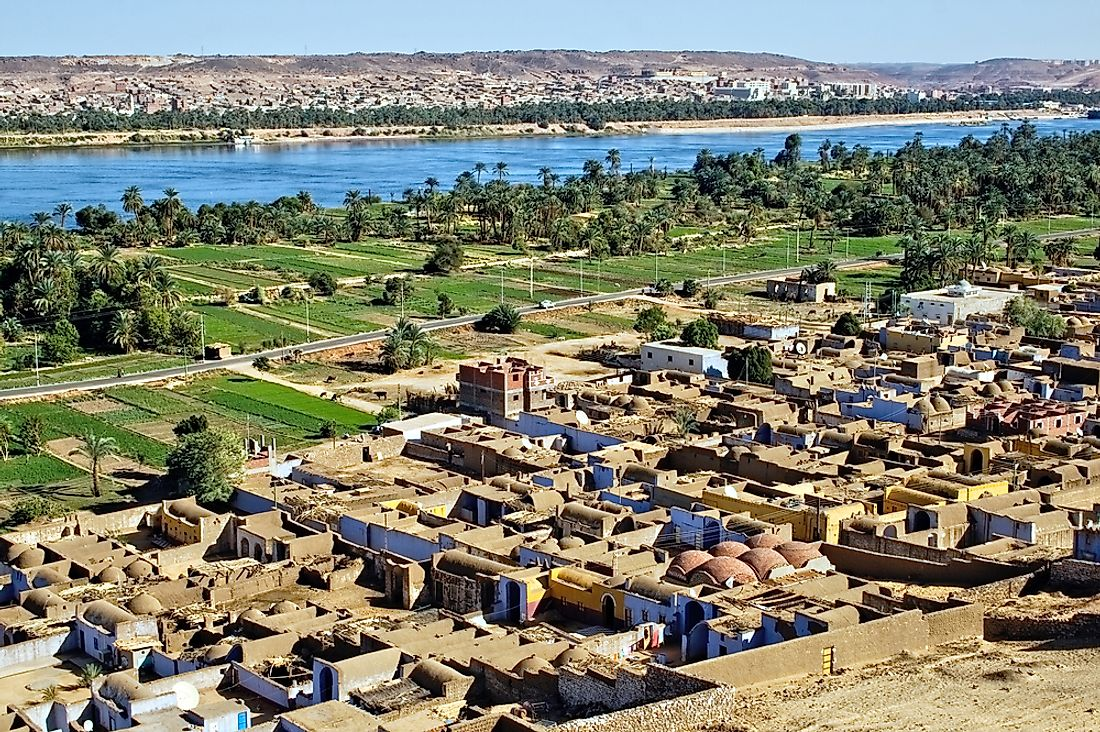 Many Nubians continue to live in villages along the river Nile.