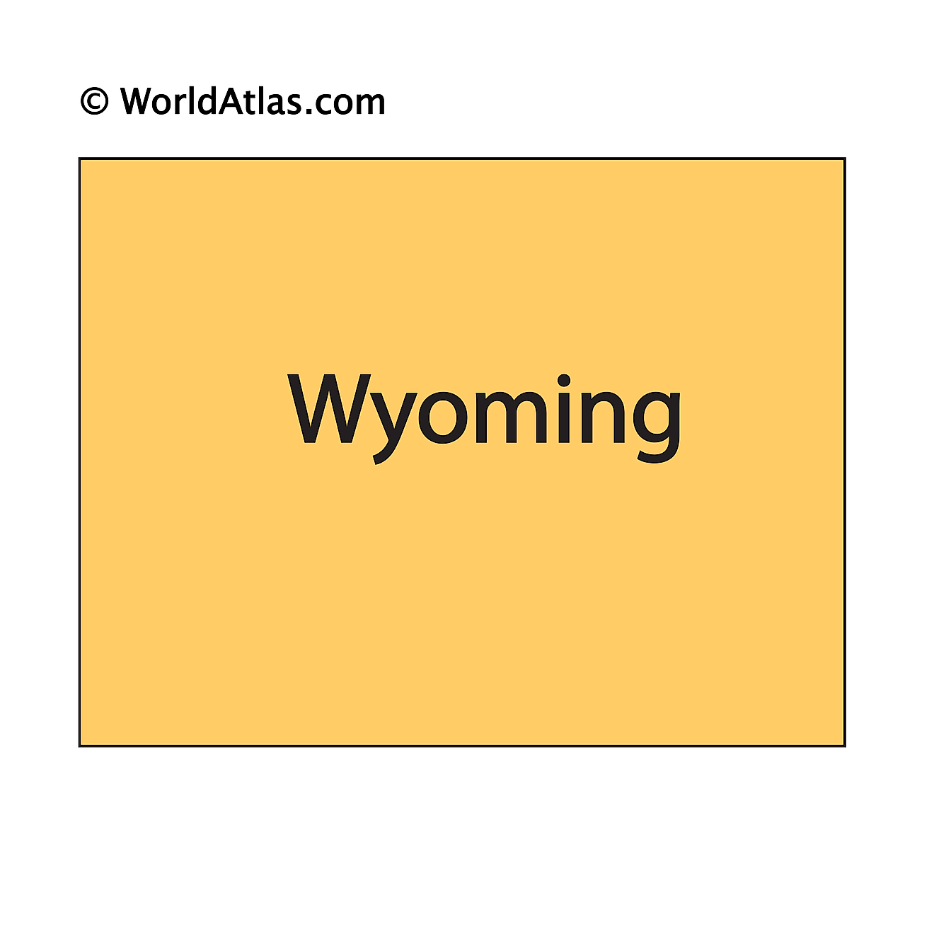 Outline Map of Wyoming