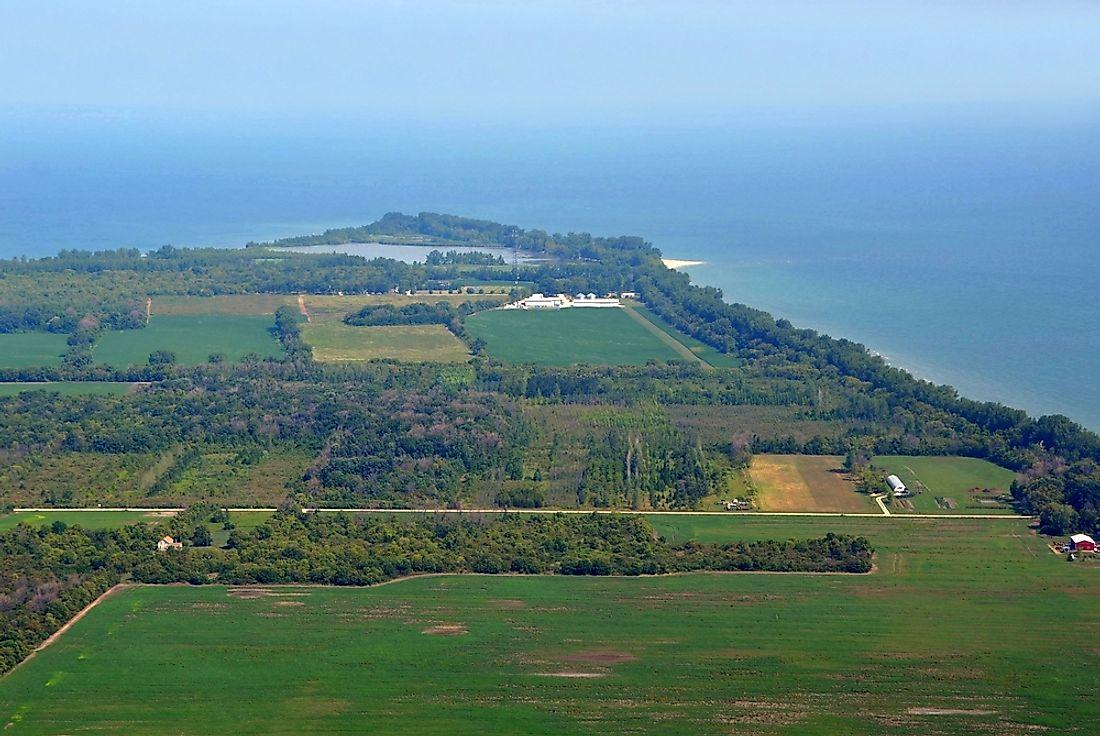 Pelee Island, an island in Lake Erie.
