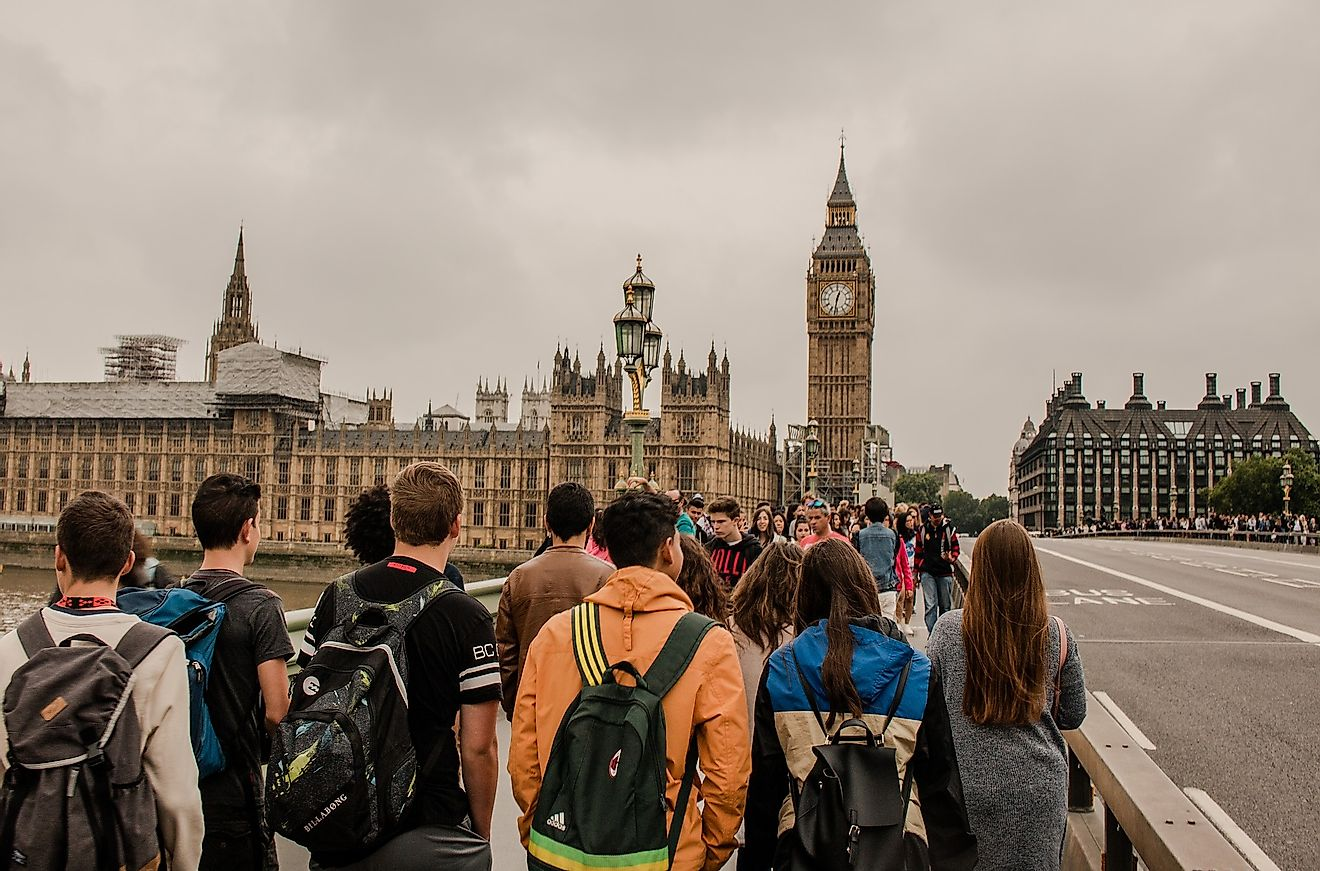 Tourists in London, one of the world's most visited cities. Image credit:  Mathias Westermann from Pixabay