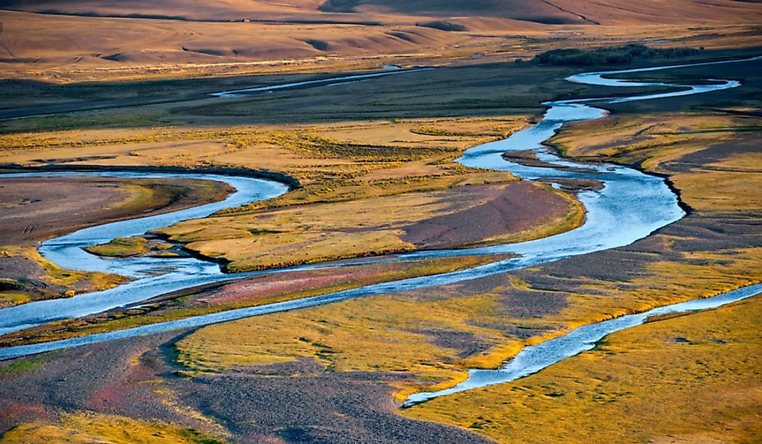 The Orkhon River in Mongolia.