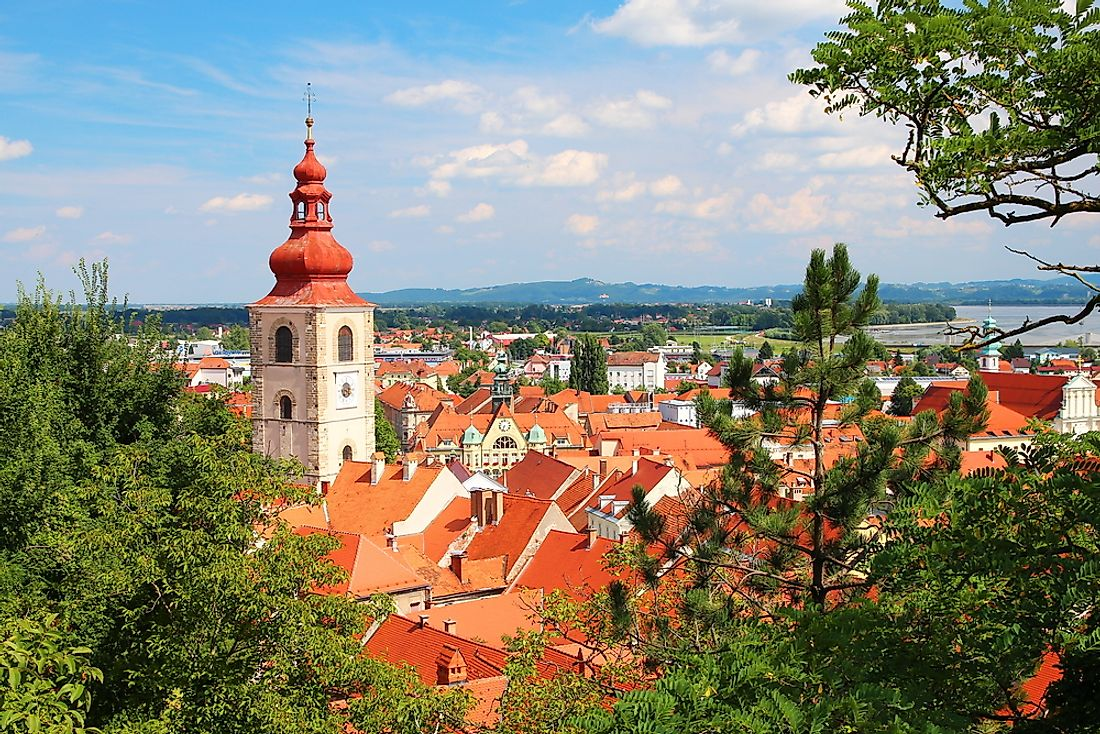 The cityscape of Ptuj.