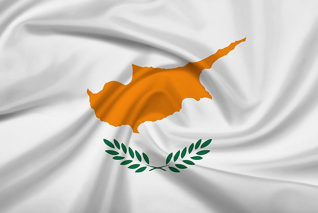 The flag of Cyprus.