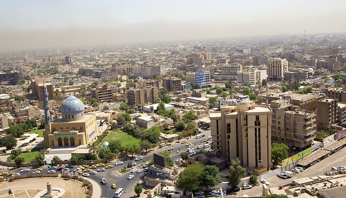 Aerial photo of the city of Baghdad, Iraq. Image credit: rasoulali/Shutterstock.com