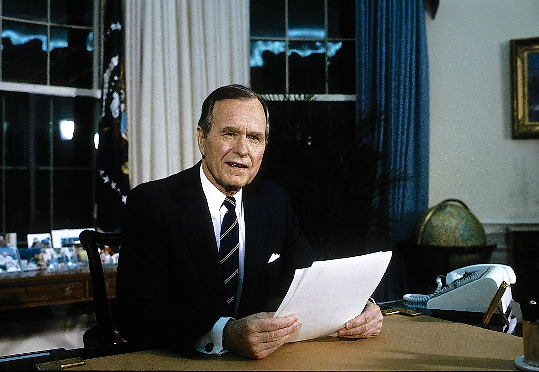 George H.W. Bush has a positive post-presidency approval status. Editorial credit: mark reinstein / Shutterstock.com.