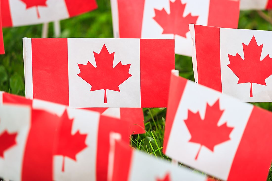 The Canadian flag is the most distinctive symbol of Canada.