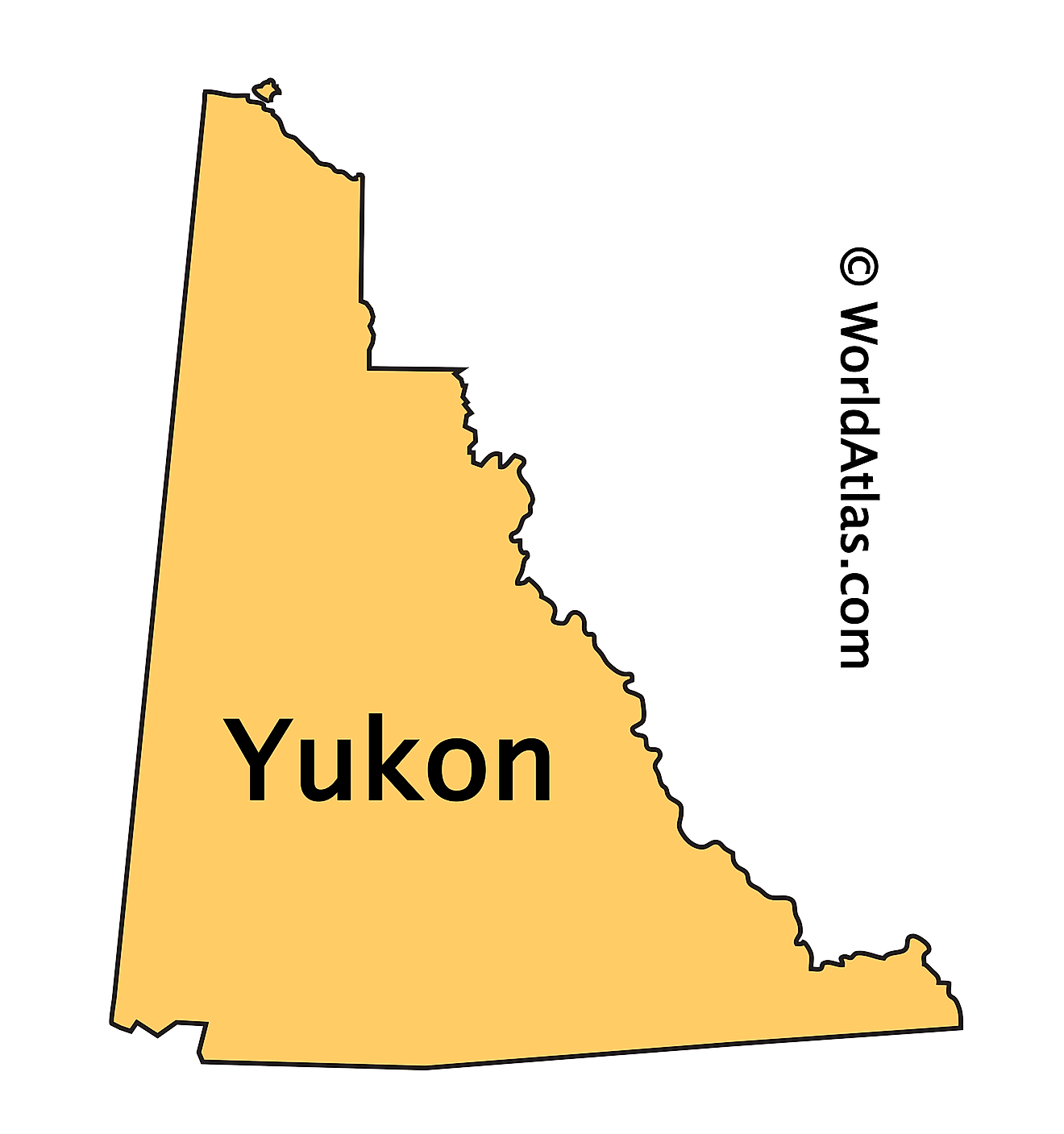 Outline Map of Yukon