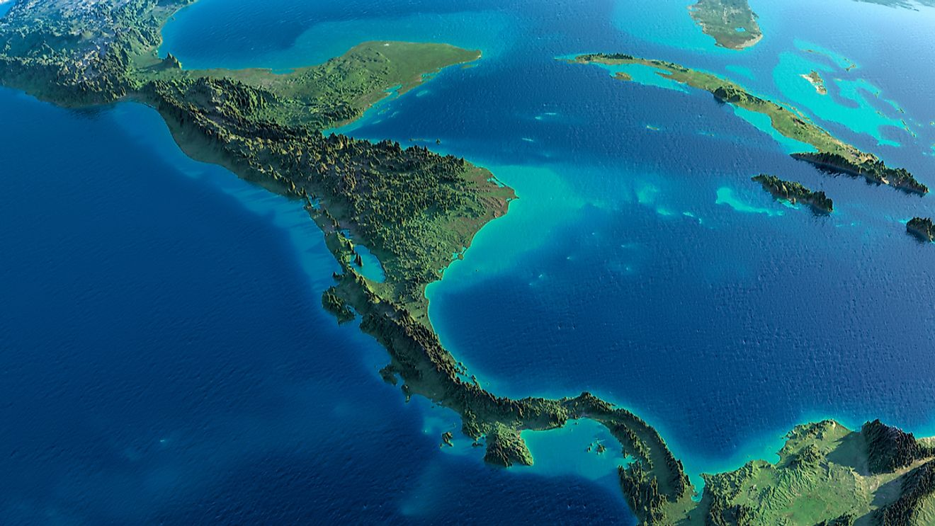 Edited image depicting Central America. Image credit: Anton Balazh/Shutterstock