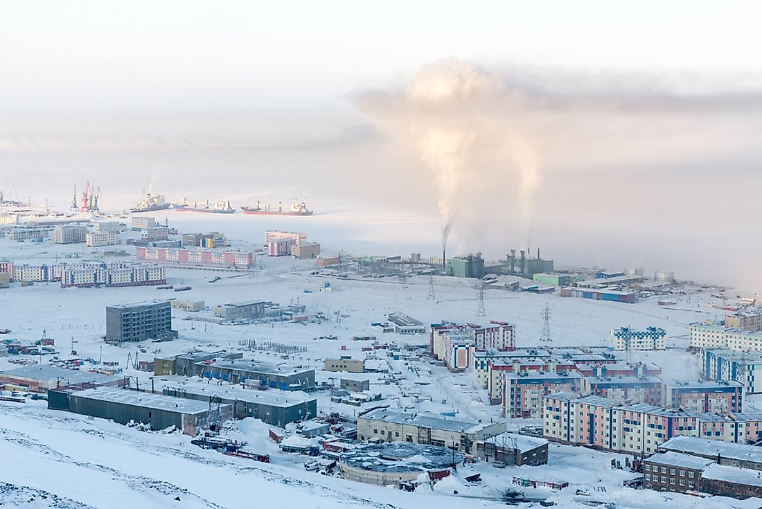 Pevek, an Arctic port town, is the the northernmost town in Russia.