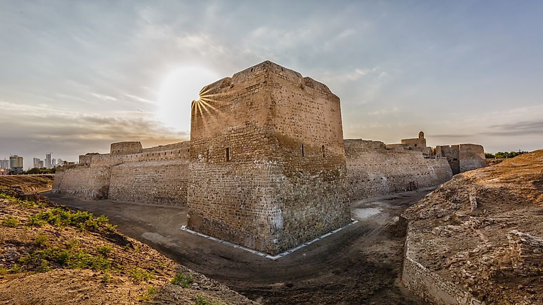 The historic Qal'at al-Bahrain or the Bahrain Fort, a UNESCO World Heritage Site in Bahrain.