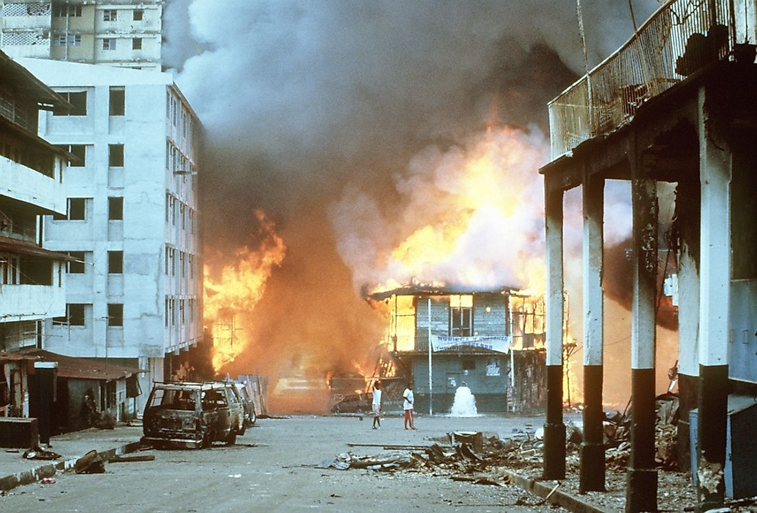 Urban combat in Panama, 1989.