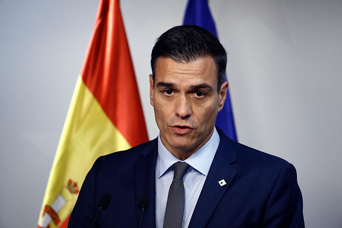 Pedro Sánchez, the prime minister of Spain. Editorial credit: Alexandros Michailidis / Shutterstock.com.