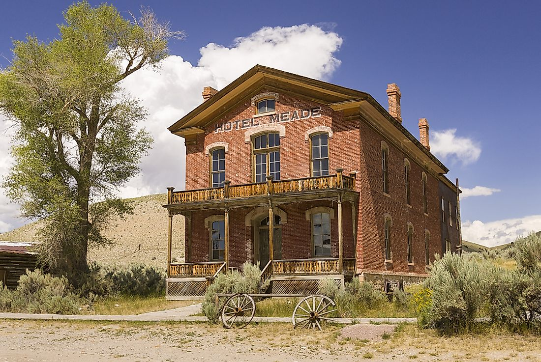 From the 1940s to the 1970s, only a few people remained in Bannack. Editorial credit: Rob Crandall / Shutterstock.com