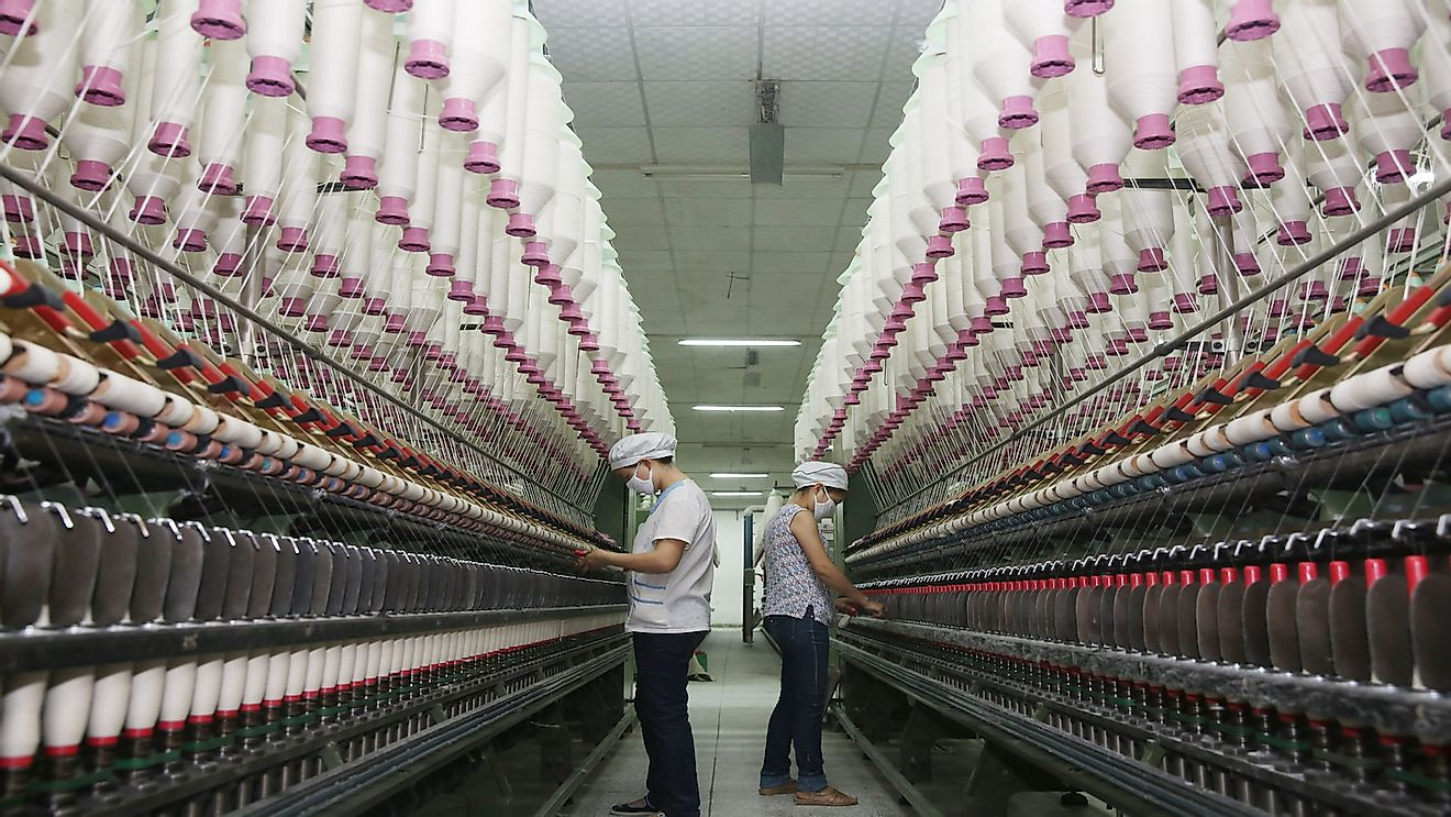 China is both a top exporter and importer of textiles.