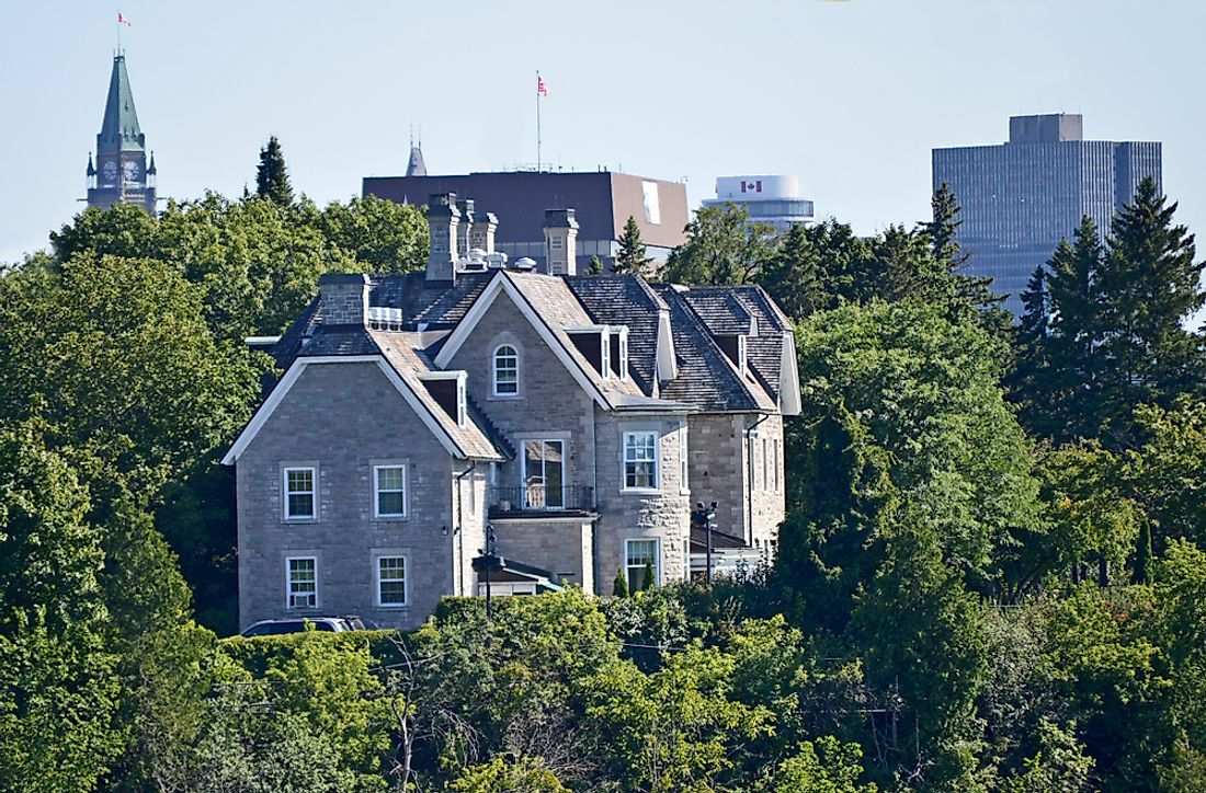 24 Sussex in Ottawa, the official residence of the Prime Minister of Canada. Editorial credit: Clarke Colin / Shutterstock.com.