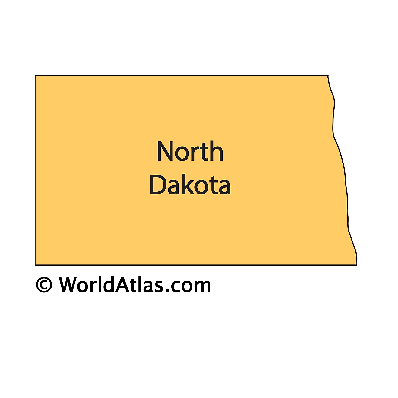 Outline Map of North Dakota