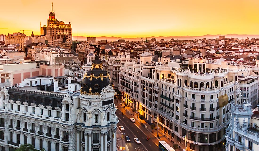 Madrid, the capital and largest city of Spain.