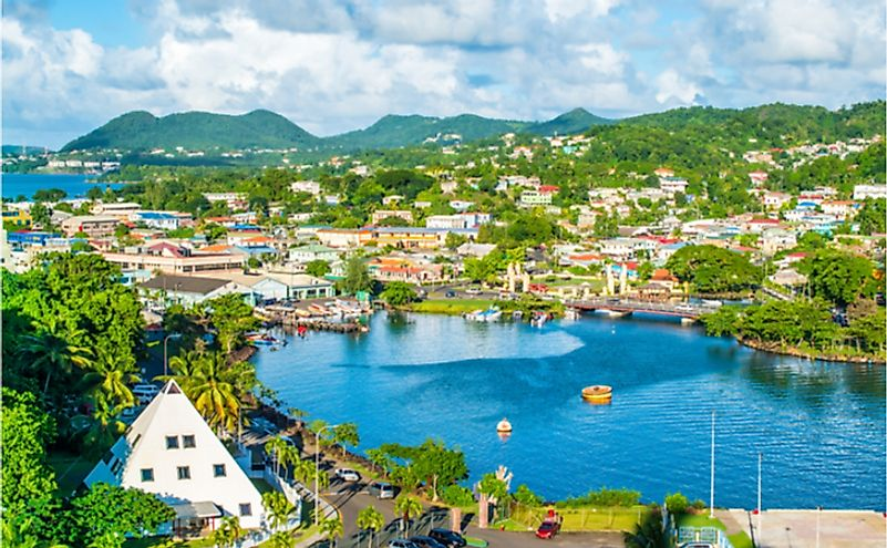 Spectacular natural scenery is the most important natural resource of Saint Lucia.