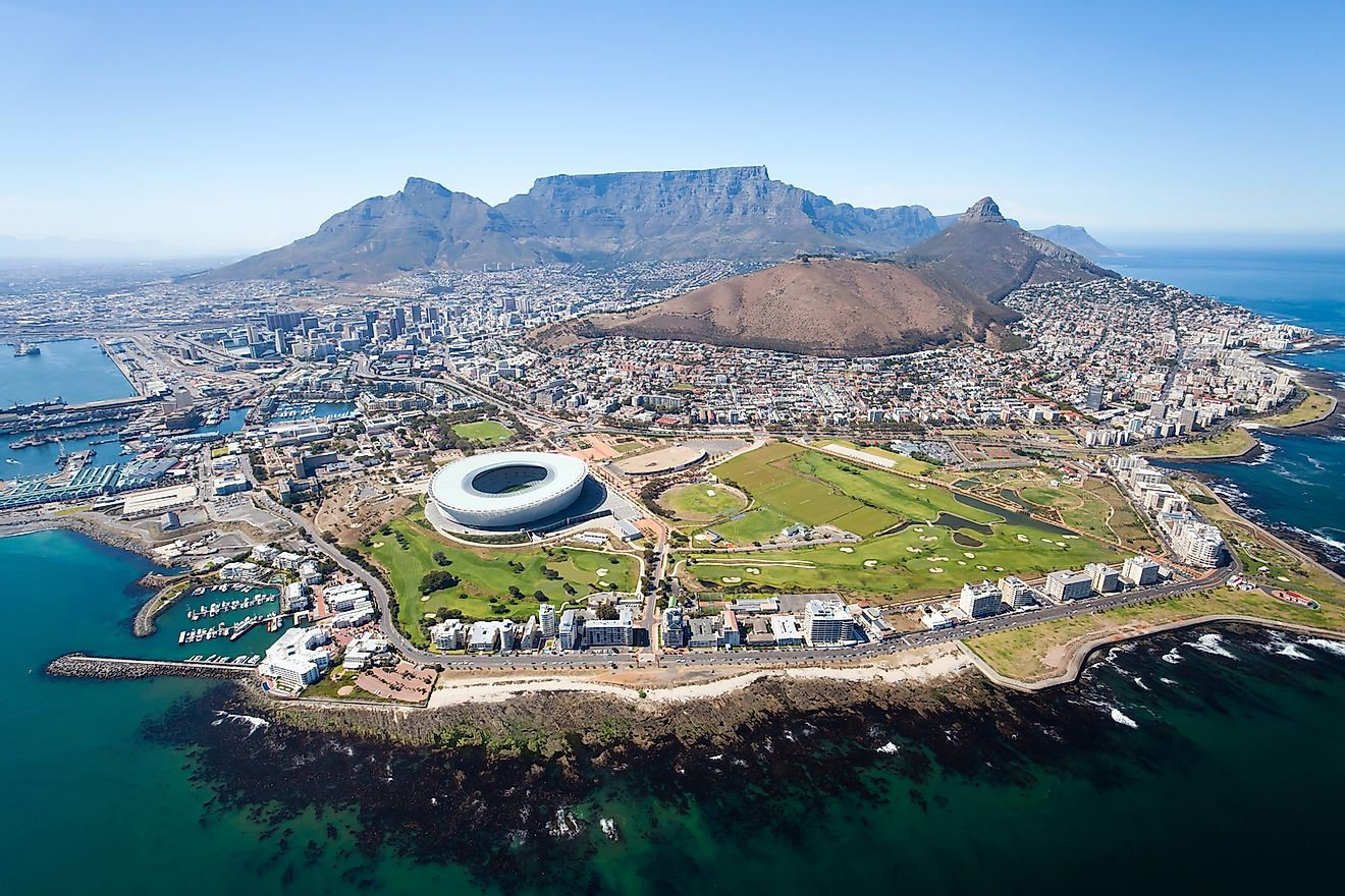 Aerial view of Cape Town, South Africa. Image credit: Michaeljung/Shutterstock.com