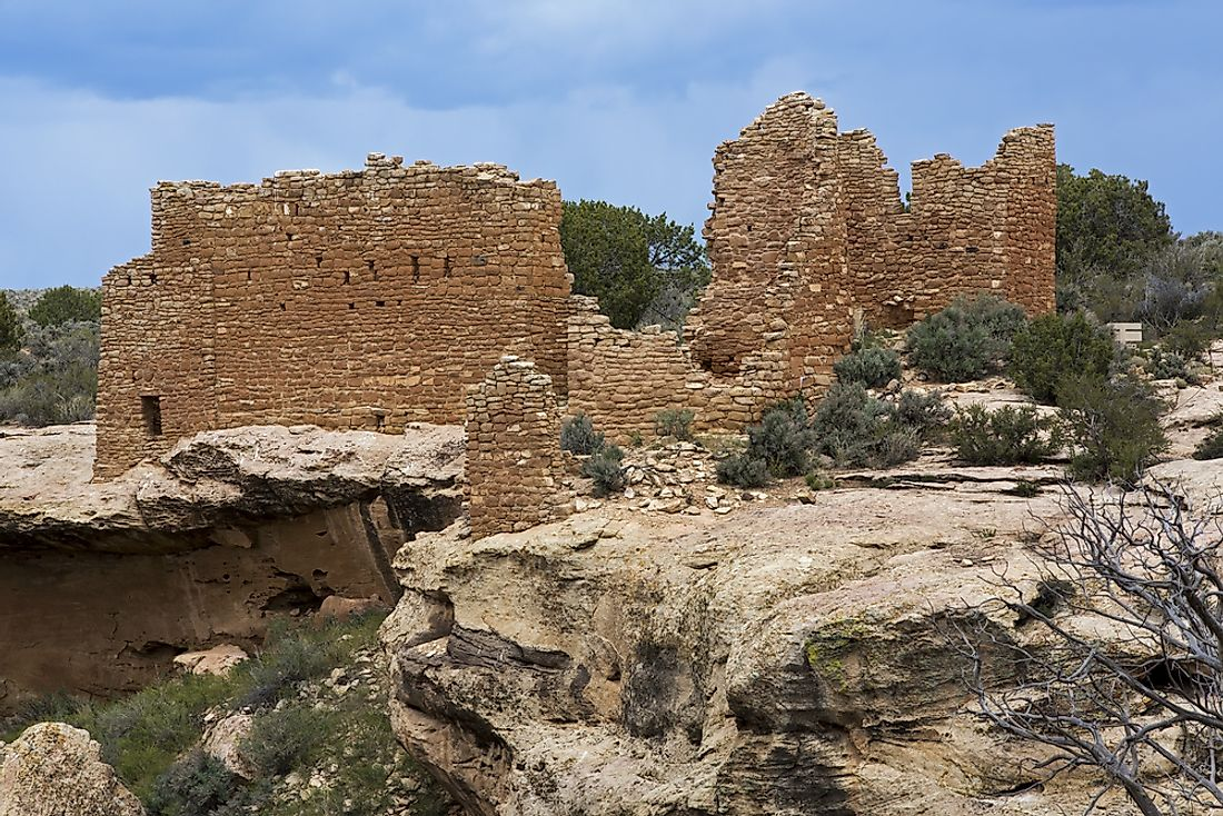 Ruins of Hovenweep Castle at the Hovenweep National Monument.