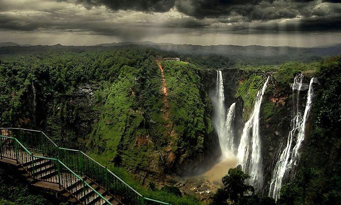 The Jog Falls, one of the most spectacular falls in the Western Ghats ecoregion.