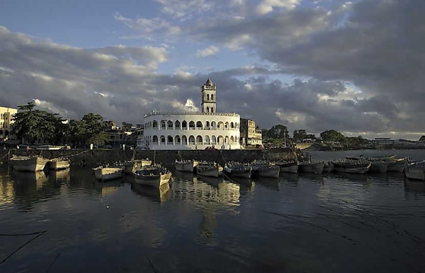 Harbor of Moroni, the capital of Comoros, on Grande Comore.