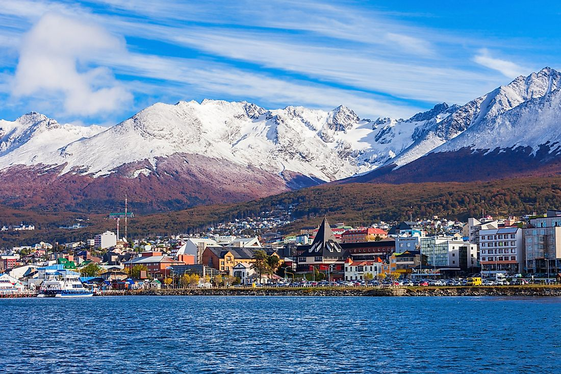 Ushuaia, Argentina is sometimes considered the southernmost city of the world.