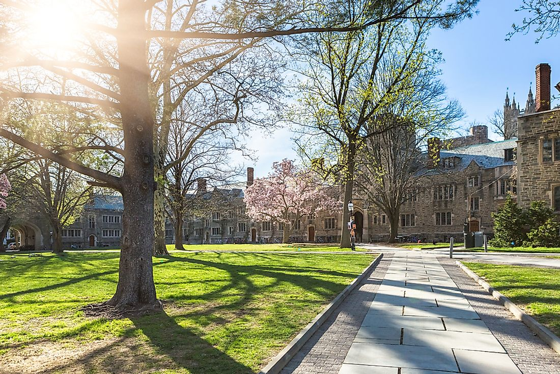 The campus of Princeton University.
