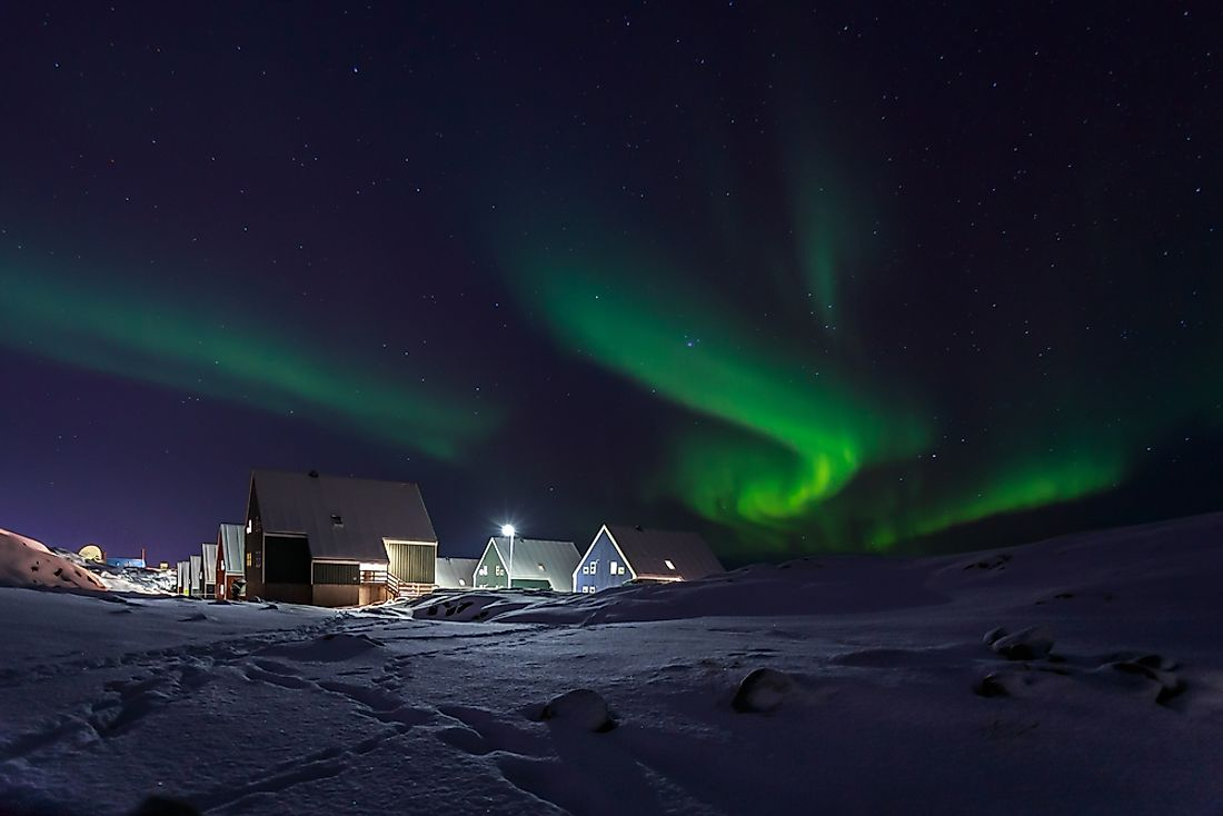 Northern lights over Nuuk, Greenland.