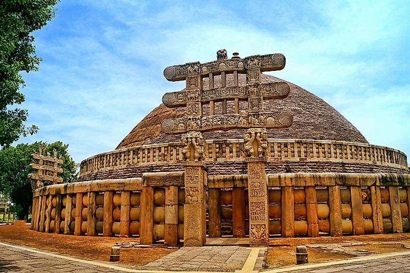 Sanchi's Great Stupa, a 3rd Century BC Buddhist site in the central Indian state of Madhya Pradesh.