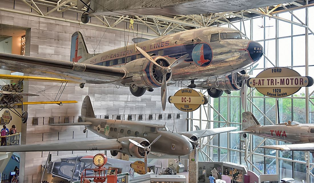 Smithsonian National Air and Space Museum in Washington, DC. Editorial credit: Evdoha_spb / Shutterstock.com