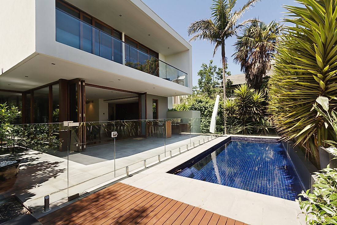 A contemporary luxury home in Melbourne, Australia. Melbourne is one of the world's costliest cities for purchasing luxury homes.