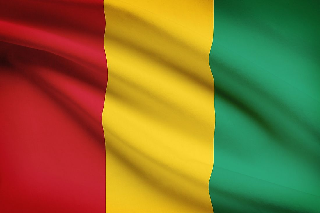 The flag of Guinea.