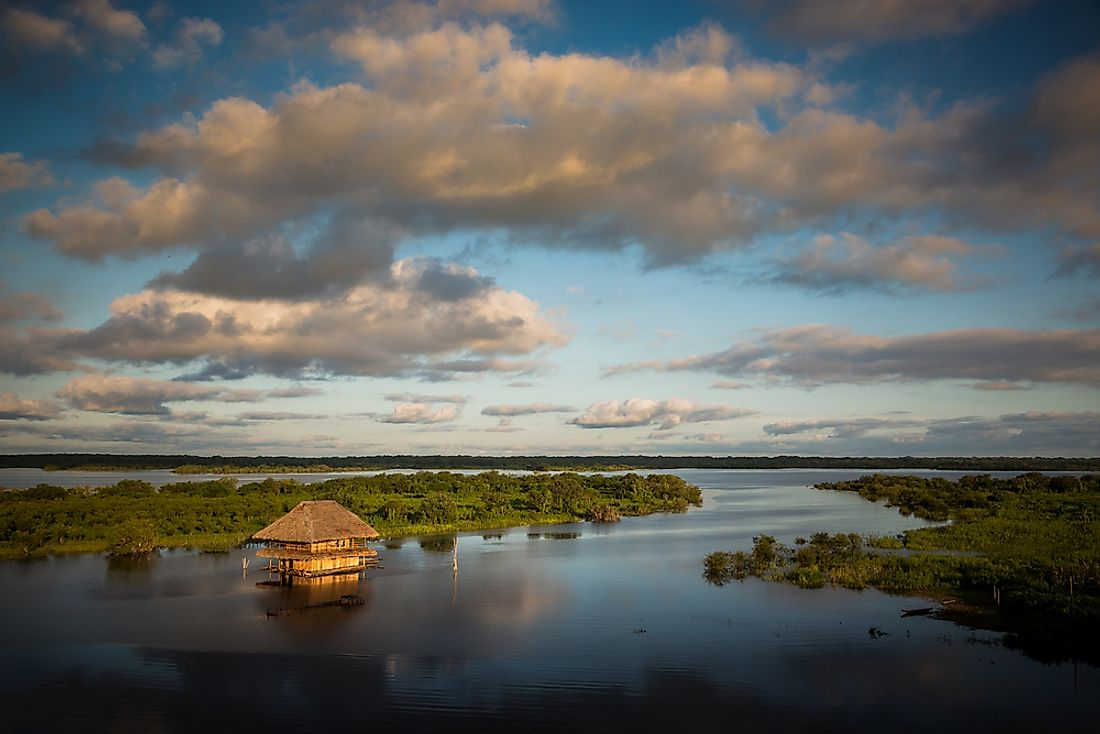The Amazon River near Iquitos, Peru.