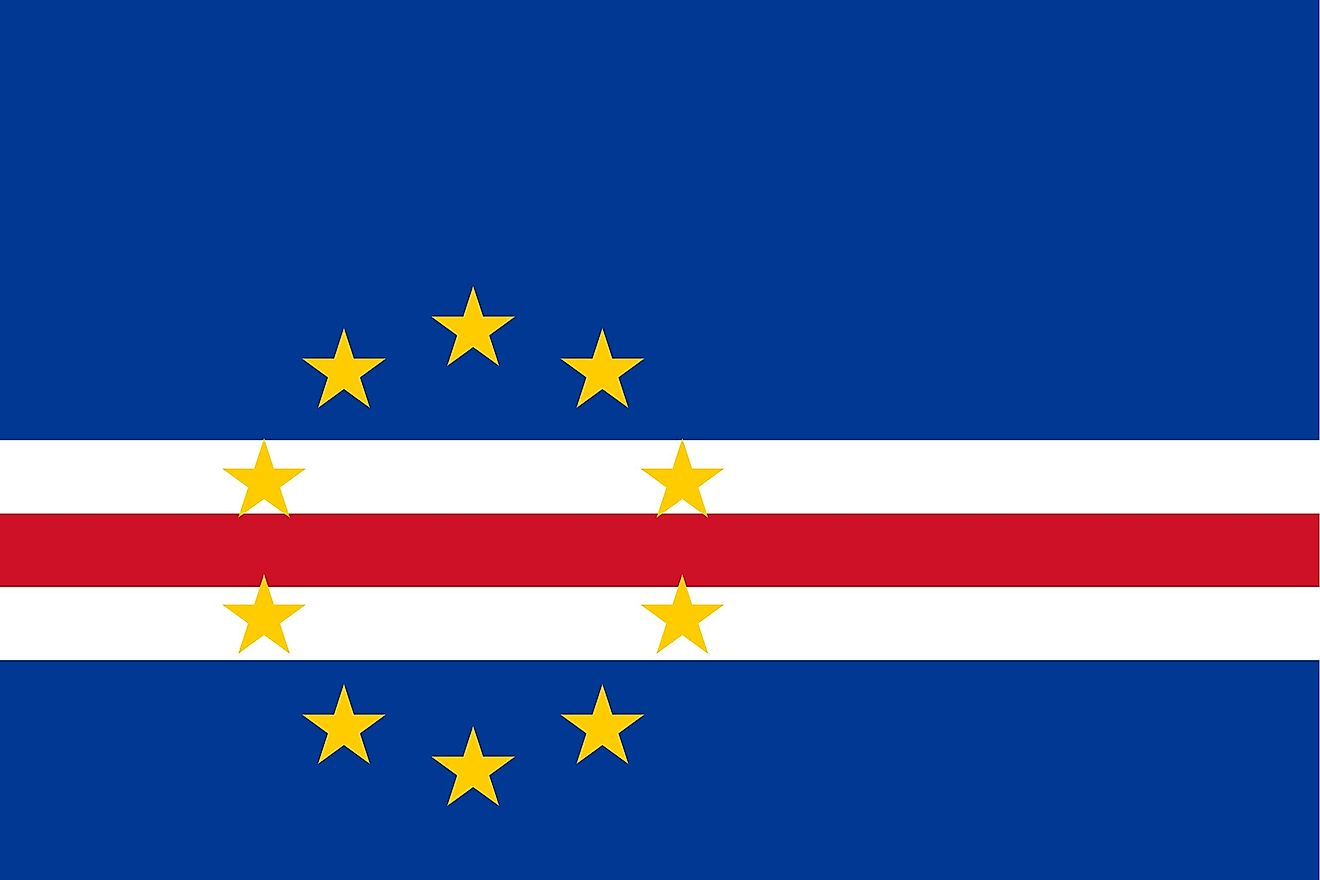 The official flag of Cabo Verde.