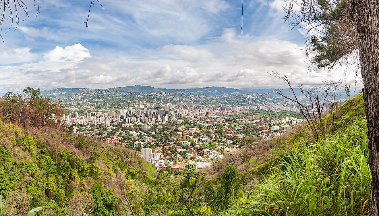 Panoramic view of Caracas from Waraira Repano National Park. Image credit: Paolo Costa/Shutterstock.com