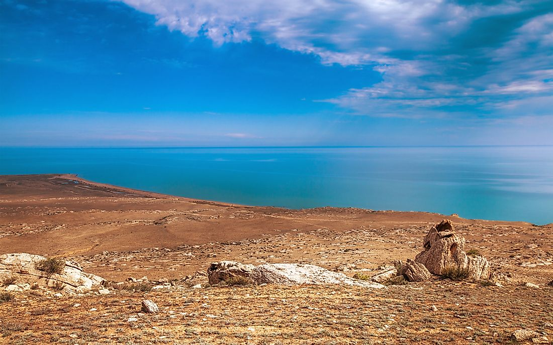 "The only ""oceanic lake"" on our list, the Caspian Sea spans a portion of the continental boundary between Asia and Europe."