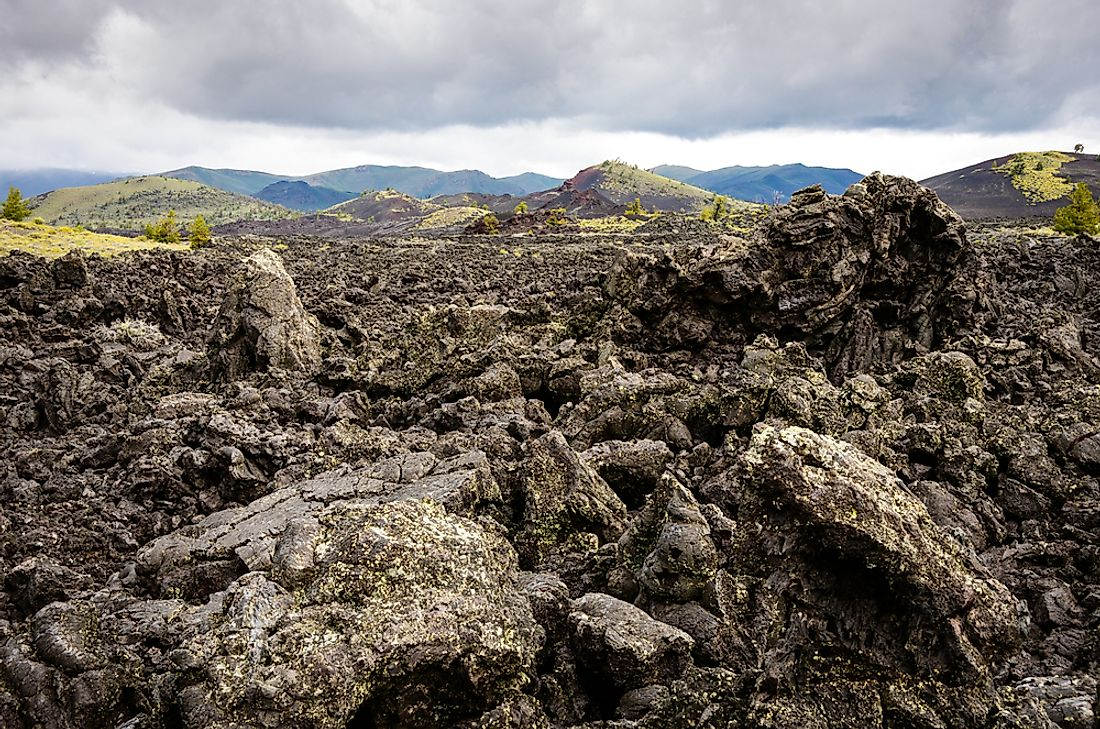 The Craters of the Moon National Monument and Preserve is unique for its lava fields.