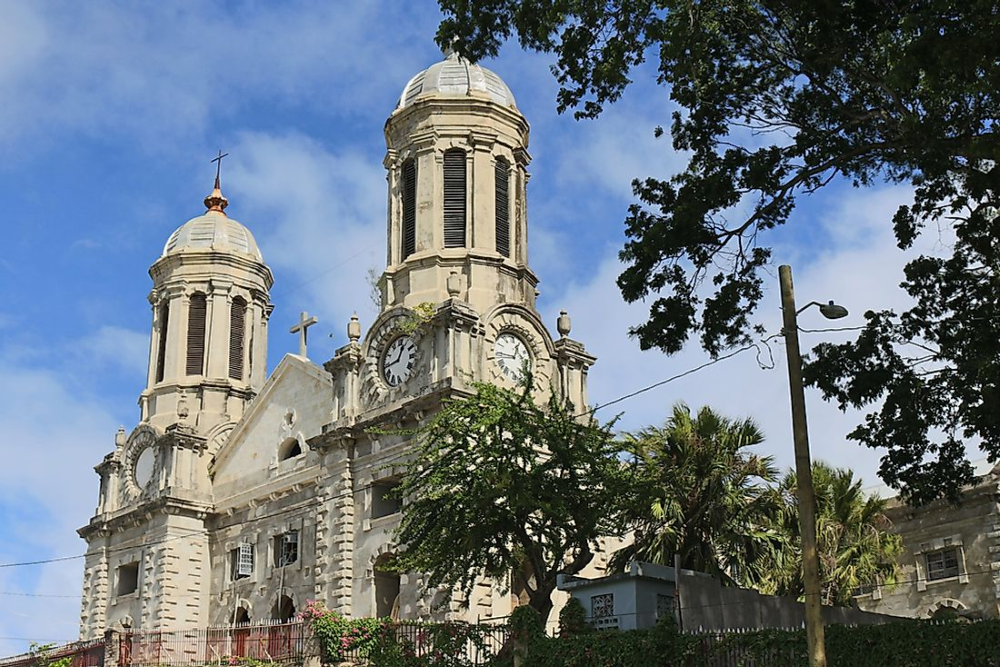 St. John's Cathedral in Antigua and Barbuda.