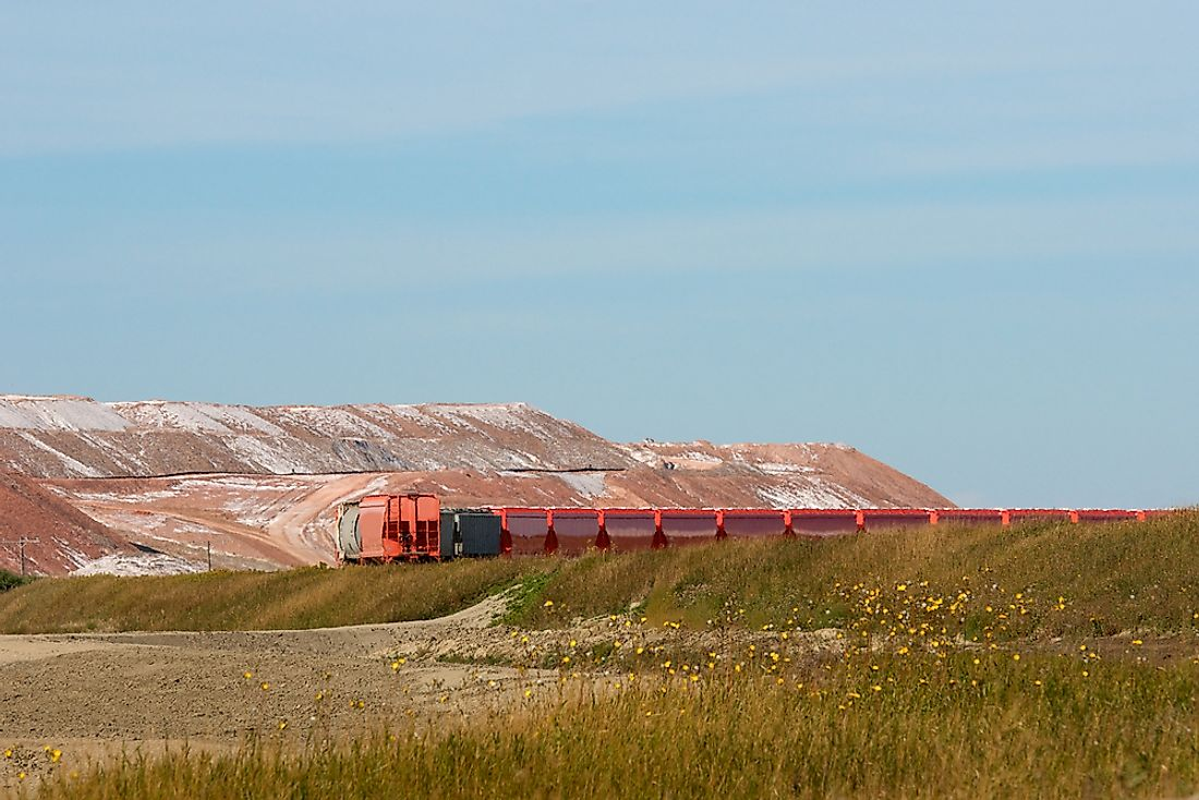 A potash mine in Canada. Canada is the world's largest producer of potash.