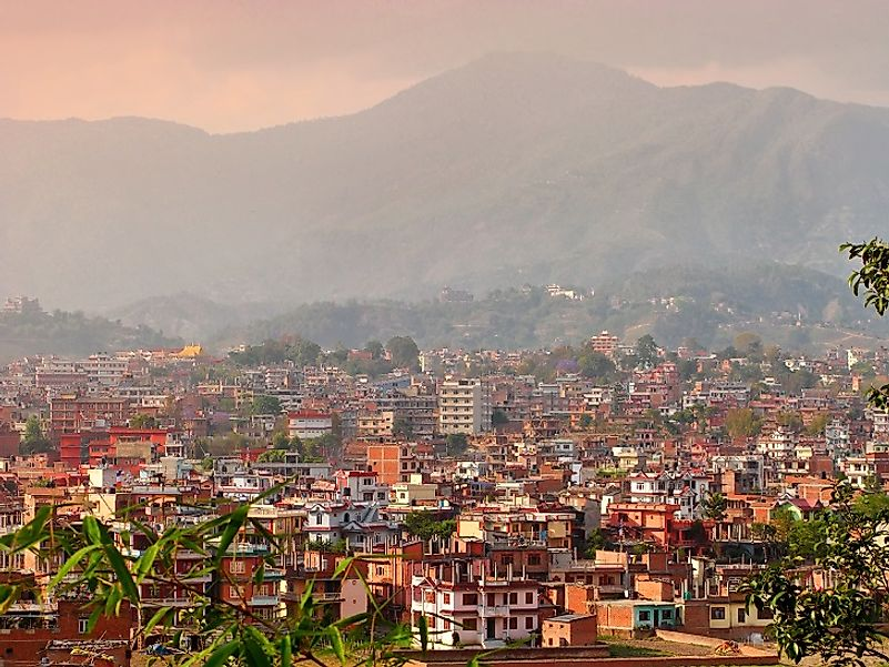 Kathmandu, the capital and largest city in Nepal.