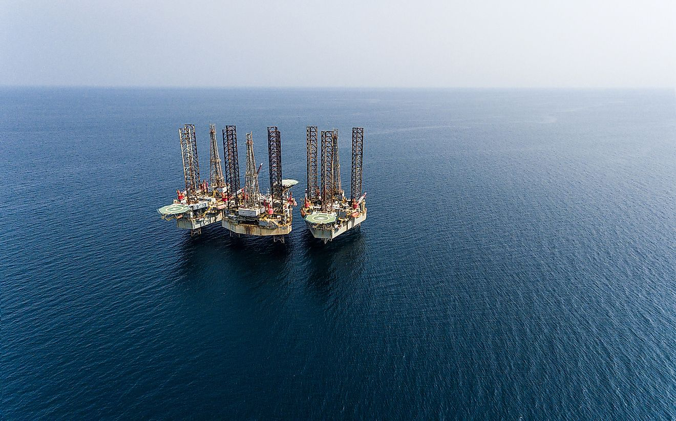A drilling platform off the coast of Equatorial Guinea.