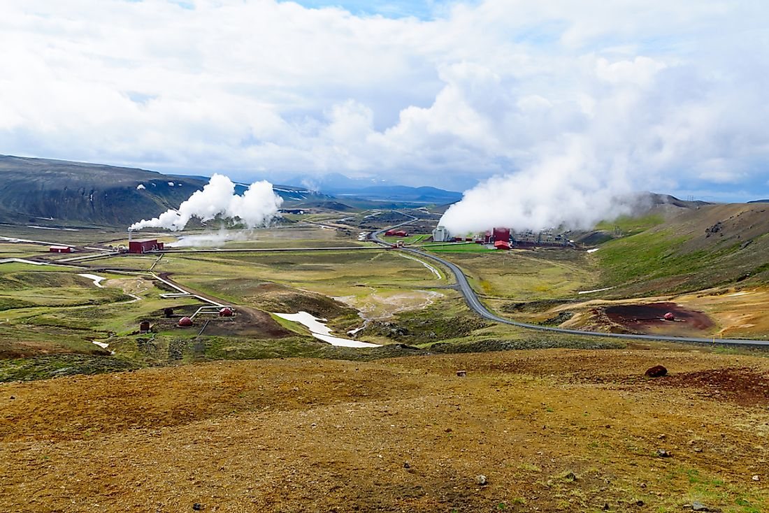Geothermal power stations in Iceland.