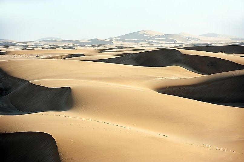 Dunes as far as the eye can see in the Namib Sand Sea.