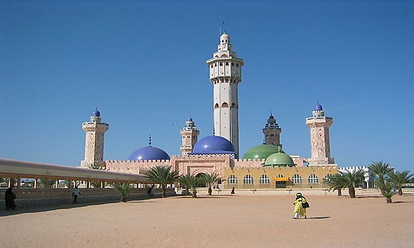 The central Mosque of the Mouride sufi order at Touba, Senegal.