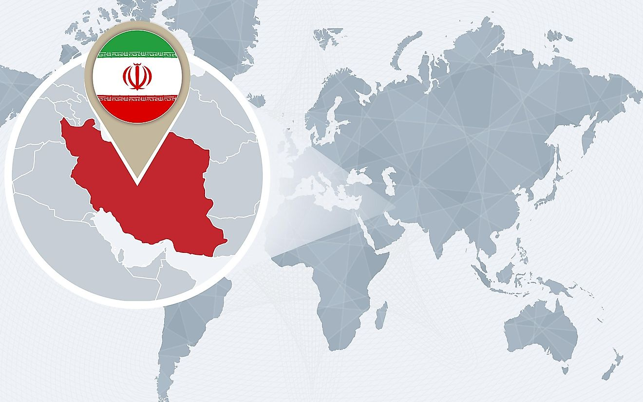 Iran is the second largest country in the Middle East by land area.