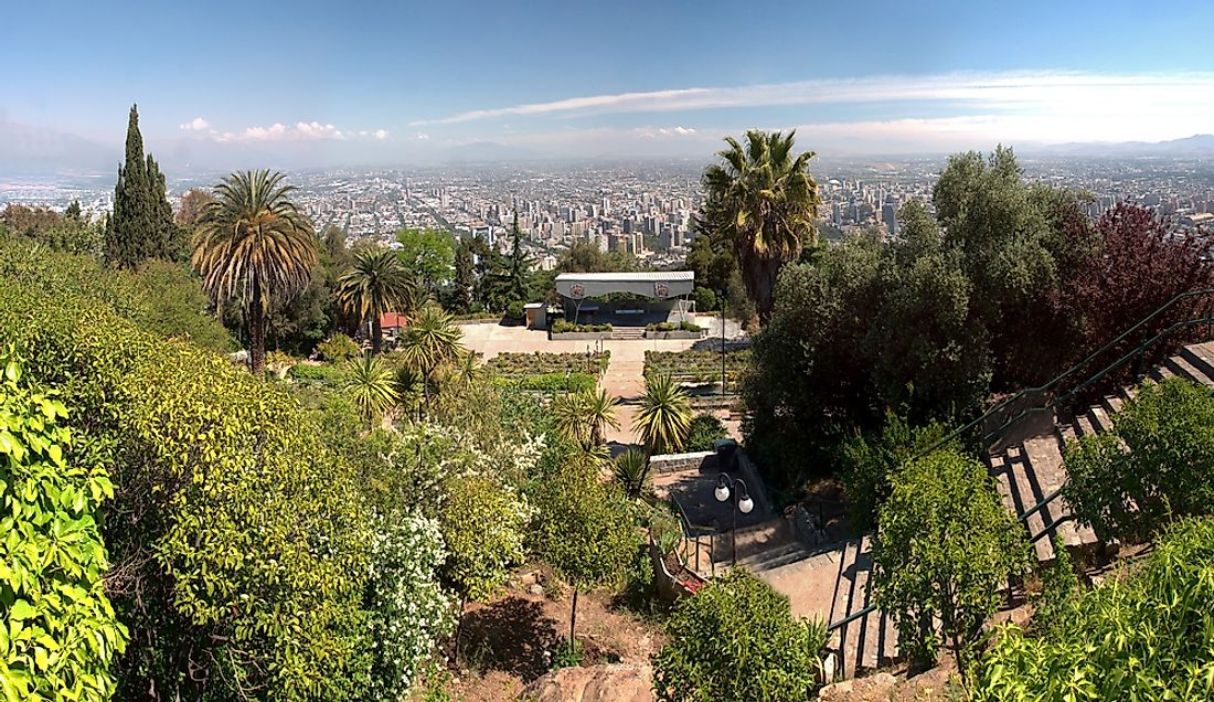 Santiago, Chile sits withing the Chilean Matorral Ecoregion.